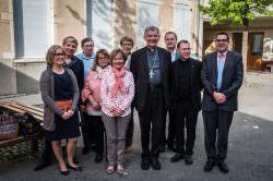 Visite de Monseigneur Roland